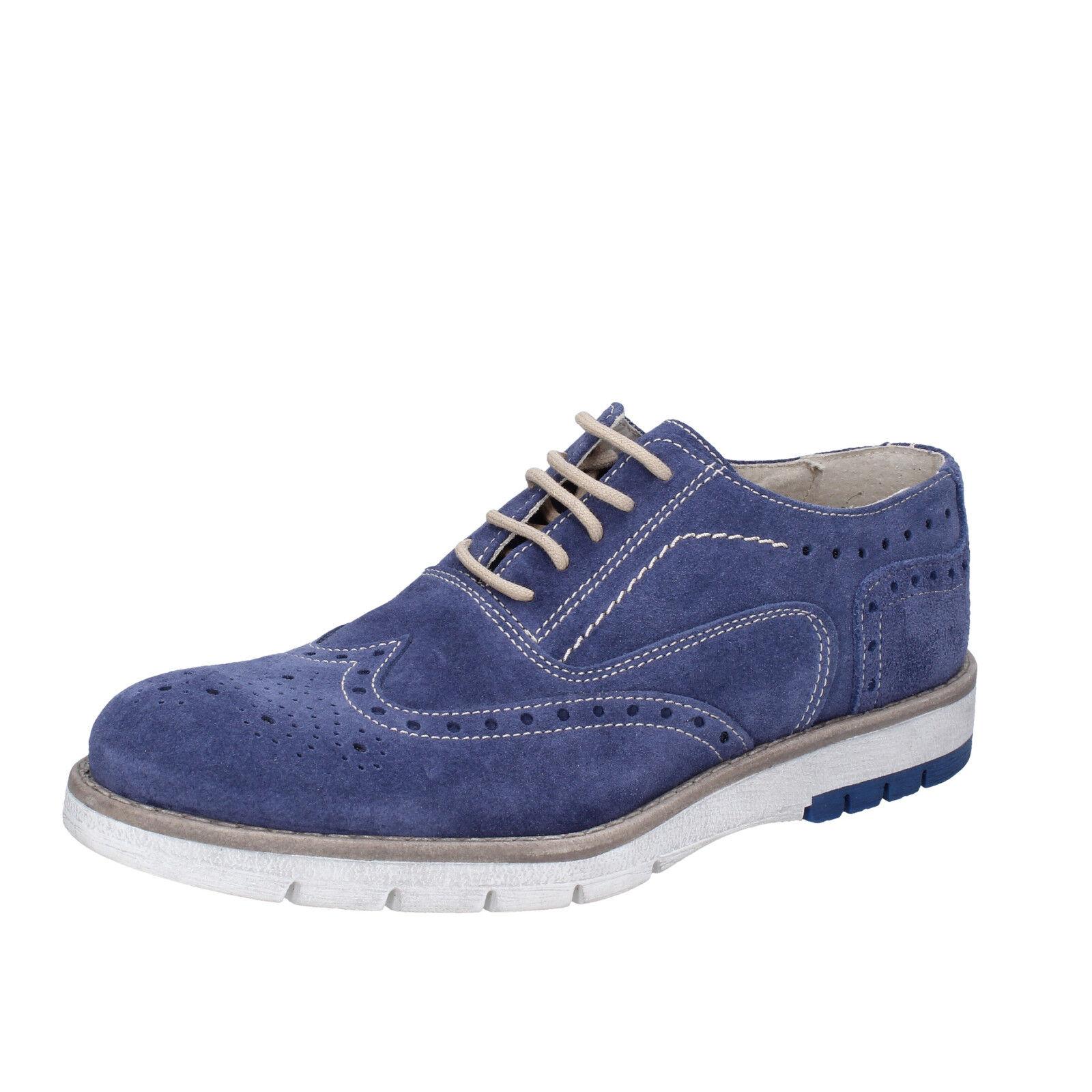 sconto di vendita Scarpe Scarpe Scarpe uomo OSSIANI 40 EU classiche blu camoscio BT855-40  acquistare ora