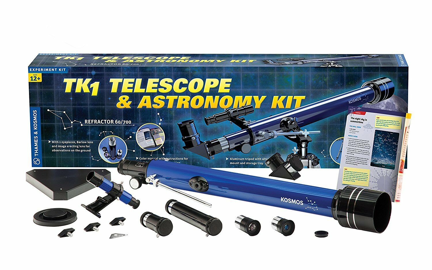 Thames & Kosmos 677015 TK1 Telescope & Astronomy Kit Science Kit