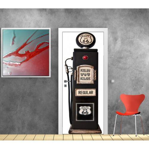 Affiche poster porte déco Pompe à essence 799 Art déco Stickers