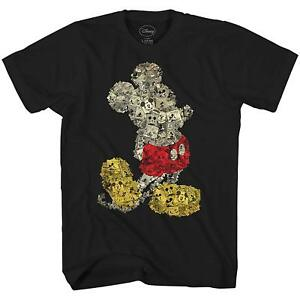 Disney-Mickey-Mouse-Collage-World-Tee-Funny-Humor-Adult-Men-039-s-Graphic-T-shirt