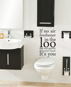 Si Aucun Air Toilettes Salle De Bain Mur Citation Vinyl