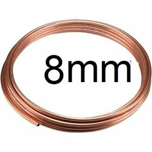 NEW 25cm of 8mm outside dia microbore gas LPG water copper plumbing pipe/tube