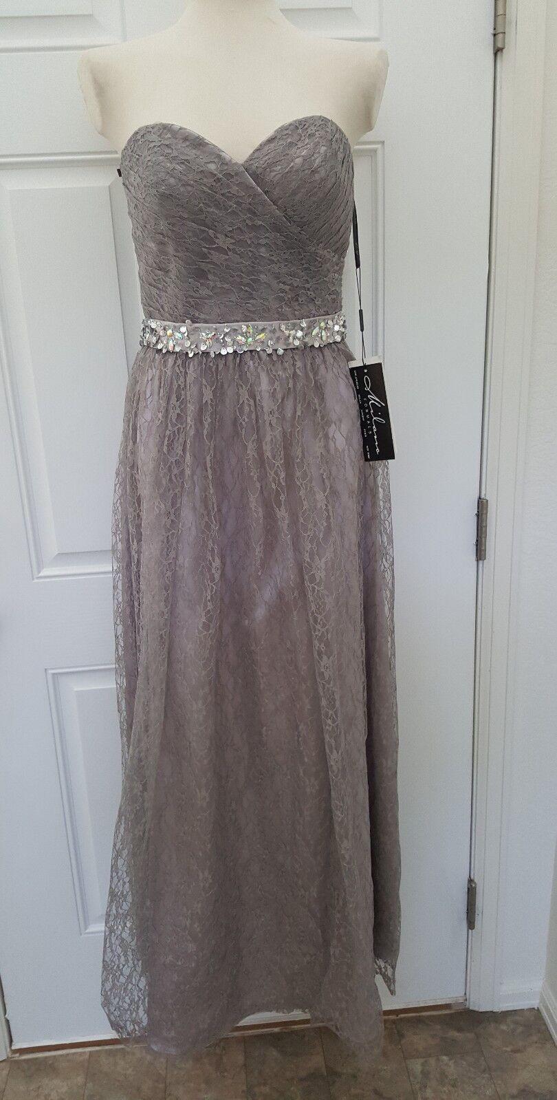 NWT  Woherren MILANO Formals Embellished Lace Evening DRESS Prom sz 10