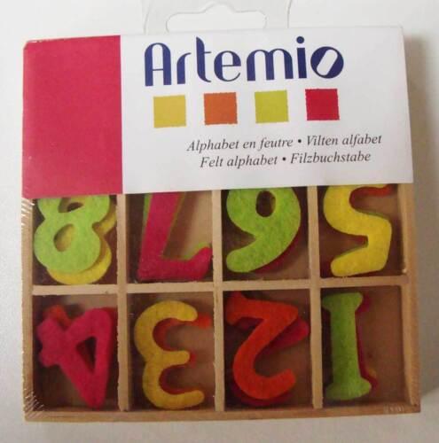 36 chiffres 26mm Embellissement Scrapbooking Applique Feutre boite Artemio DIY