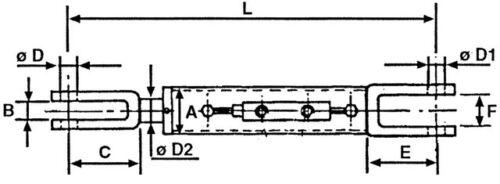 HYDRAULISCHER UNTERLENKER STABILISATOR L540 Hydraulikarmstütze Gabel Gabelgelenk
