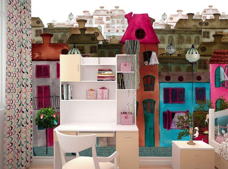 3D Haus Malerei 89233 Fototapeten Wandbild Fototapete Bild Tapete Familie Kinder