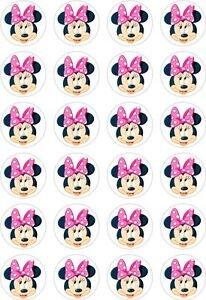 Printable Minnie Mouse Cake Toppers