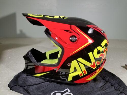 Answer Racing Helmet SNX2 WHT//FLORED//ACID XLarge TR#459941