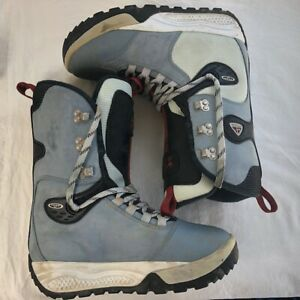 mantequilla tuberculosis Libro  Vintage Men's Nike ACG Snowboard Boots 1999 Gray Blue Black Size 8.5 RARE  990698 | eBay