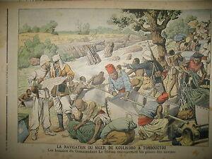 COLONIALE-MARINS-PORTEURS-NIGER-KOULIKORO-TOMBOUCTOU-LE-PETIT-JOURNAL-1905