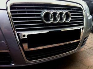 Audi A6 4F Chrom Blende für Nummernschild vorne Modelle mit PDC Edelstahl