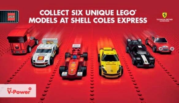 LEGO SHELL FERRARI DISPLAY  INCLUSIVE ALL 6 CARS - LIMITED EDITION BAGGED SEALED
