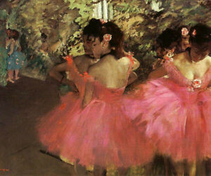 Dancers-In-Pink-by-Edgar-Degas-Oil-Painting-Reproduction-on-Canvas-30-034-x-24-034