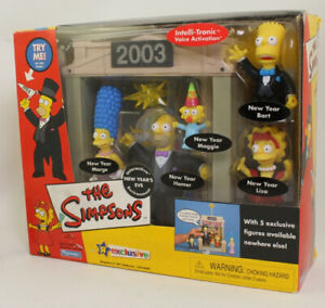 Playmates-The-Simpsons-New-Year-039-s-Eve-Interactive-Environment-w-Homer-Marge