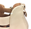 thumbnail 9 - Womens Ladies Beige Faux Leather High Heel Peep Toe Sandals Shoes Size UK 3 New