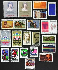 CANADA-Postage-Stamps-1973-Complete-Year-Set-collection-Mint-NH-See-scans