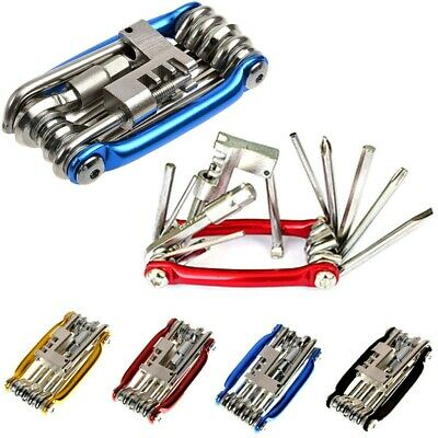 11 In 1 Multi Tool Bicycle Bike Allen Hex Keys Screwdriver Chain Link Tool MTB