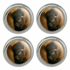 Set of 4 Alien Head in Space Metal Craft Sewing Novelty Buttons