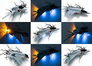 3d Wall Light Kmart : Genuine 3DLIGHTFX FIGHTER JET Light 3D LED Wall Night Light Lamp 3D Light FX