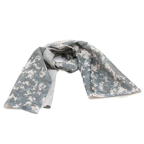 Tactical Military Camp Army Camouflage Scarf Wrap Face Veil Net Mesh Masks LA