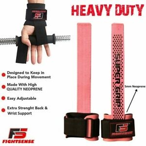Wrist-Wraps-BAR-LIFTING-STRAPS-for-POWER-LIFTING-CROSSFIT-Gym-WEIGHT-LIFTING