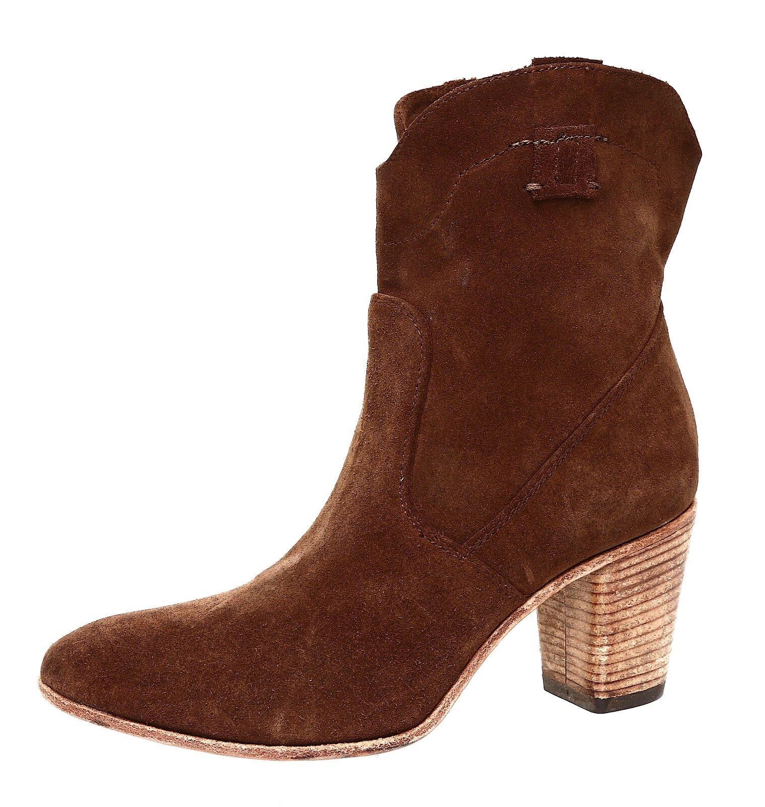 Alberto Fermani Chiara Slouchy Suede Ankle Boot Brown Women Sz 35 *
