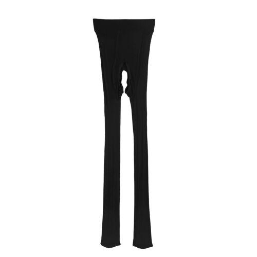 Mens Ice Silk Crotchless Pantyhose Stockings Tights Hosiery Pants Underwear
