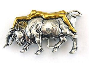 BULL BELT BUCKLE BULLFIGHTER ARTISTIC LONGHORN COWBOY WESTERN NEW