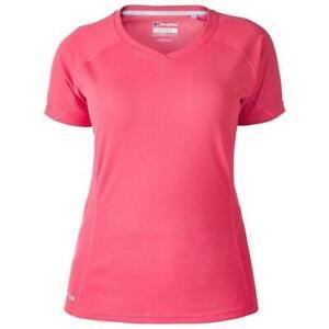 Berghaus Femme Tech Tee Ii Couche De Base T-shirt Top En Rose/rose-afficher Le Titre D'origine