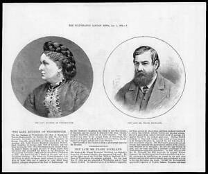 1881-Antique-Print-PEOPLE-Duchess-Constance-Westminster-Frank-Buckland-27