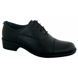 Grafters-L092A-Ladies-Low-Heeled-Soft-Leather-Lace-Up-Brogue-Shoes-Black