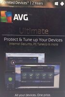 Avg Ultimate 2017, Unlimited Devices, 2 Years [cd-rom] Mac Os X / Windows Xp