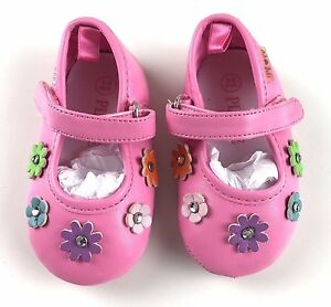 Children-039-s-Place-Mary-Jane-Pink-Shoes-3-6-months-Baby-Girl-Flowers-Rhinestone