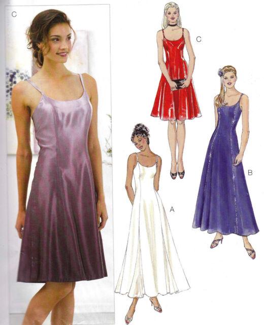 Kwik Sew Pattern 3294 Scoop Neck Spaghetti Strap Godet Maxi Dress Xs ...