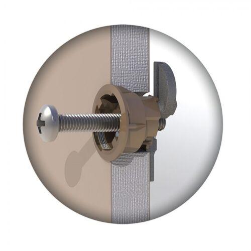 GRIPIT BROWN 20mm PLASTERBOARD FIXINGS /& SCREWS HOLLOW CAVITY WALL PLUG GRIP IT
