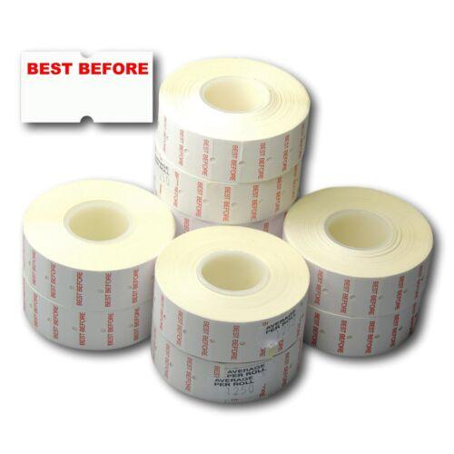 permanenti stampati meglio prima CT1 22 x 12mm Prezzo Gun etichette 10 Rotoli 12,500