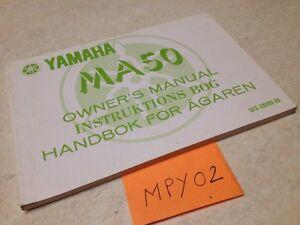 Manuell-Eigentuemer-Yamaha-MA50-MA-50-des-Besitzers-Handbuch-Hg-80