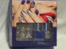 AUTHENTIC Nails Inc. Bling it On LONDON kit nail polish Baker Street crowns