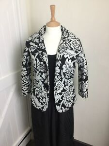 ff94907e Ladies Day Birger & Mikelson Black & White Sparkly Jacket. Size 10 ...