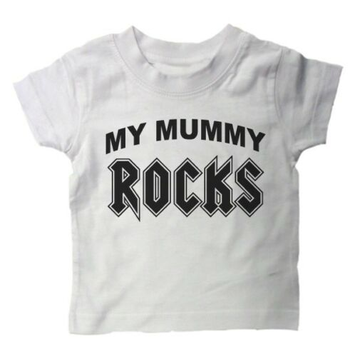 FUNNY SLOGAN KIDS GIFT BN BABY T SHIRT My Mummy Rocks