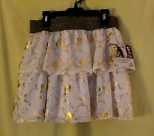 NWT Girls Skort Scooter Skirt White /& Gold Ruffles Small 6-6x EVER AFTER HIGH
