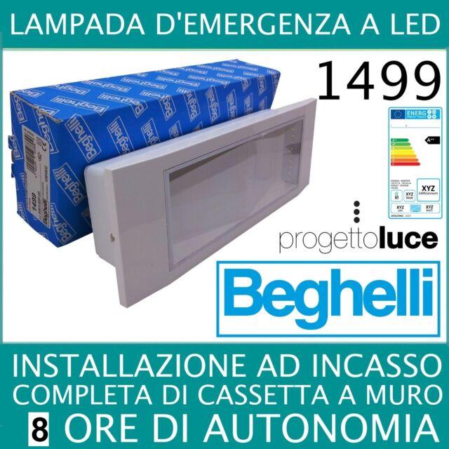 LAMPADA EMERGENZA  led beghelli ad incasso  modello 1499 11W 8 ORE AUTONOMIA