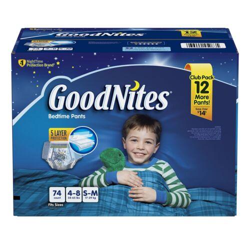 GoodNites Bedtime Underwear for Boys PICK SIZE /& QUANTITY
