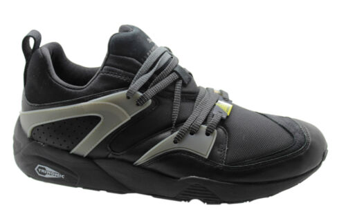 Puma Trinomic Blaze Of Glory Leather Mens Trainers Shoes Black 358818 01 U96