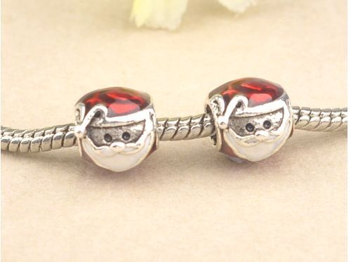 1PCS Santa Claus charm Beads Fit European Silver Bracelet DIY--03