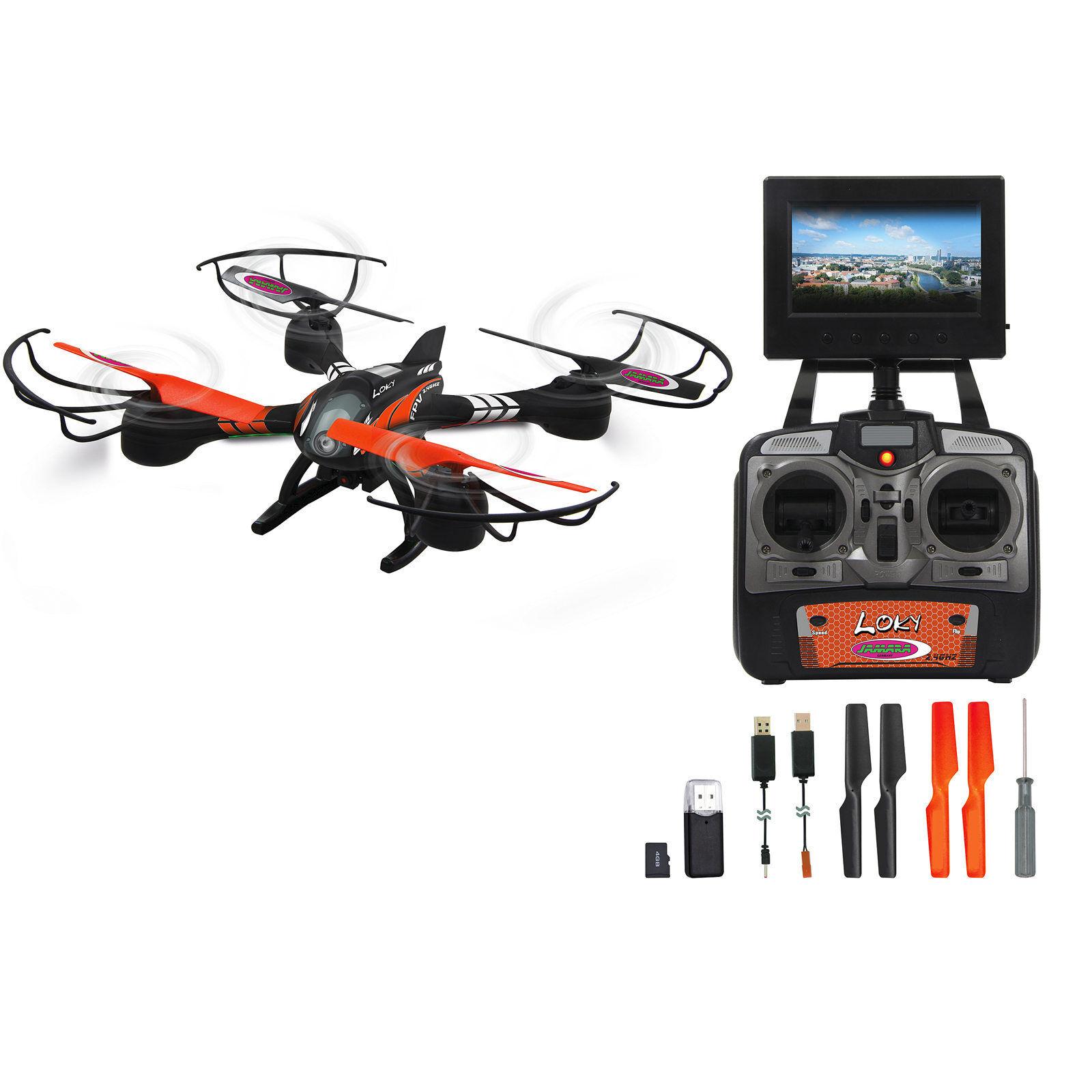 Jamara loky FPV ahp + quadrocopter 422001, con cámara