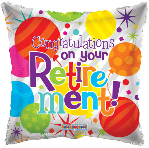 7 pc Colorful Congrats Retirement Balloon Bouquet Party Decoration Thanks Office