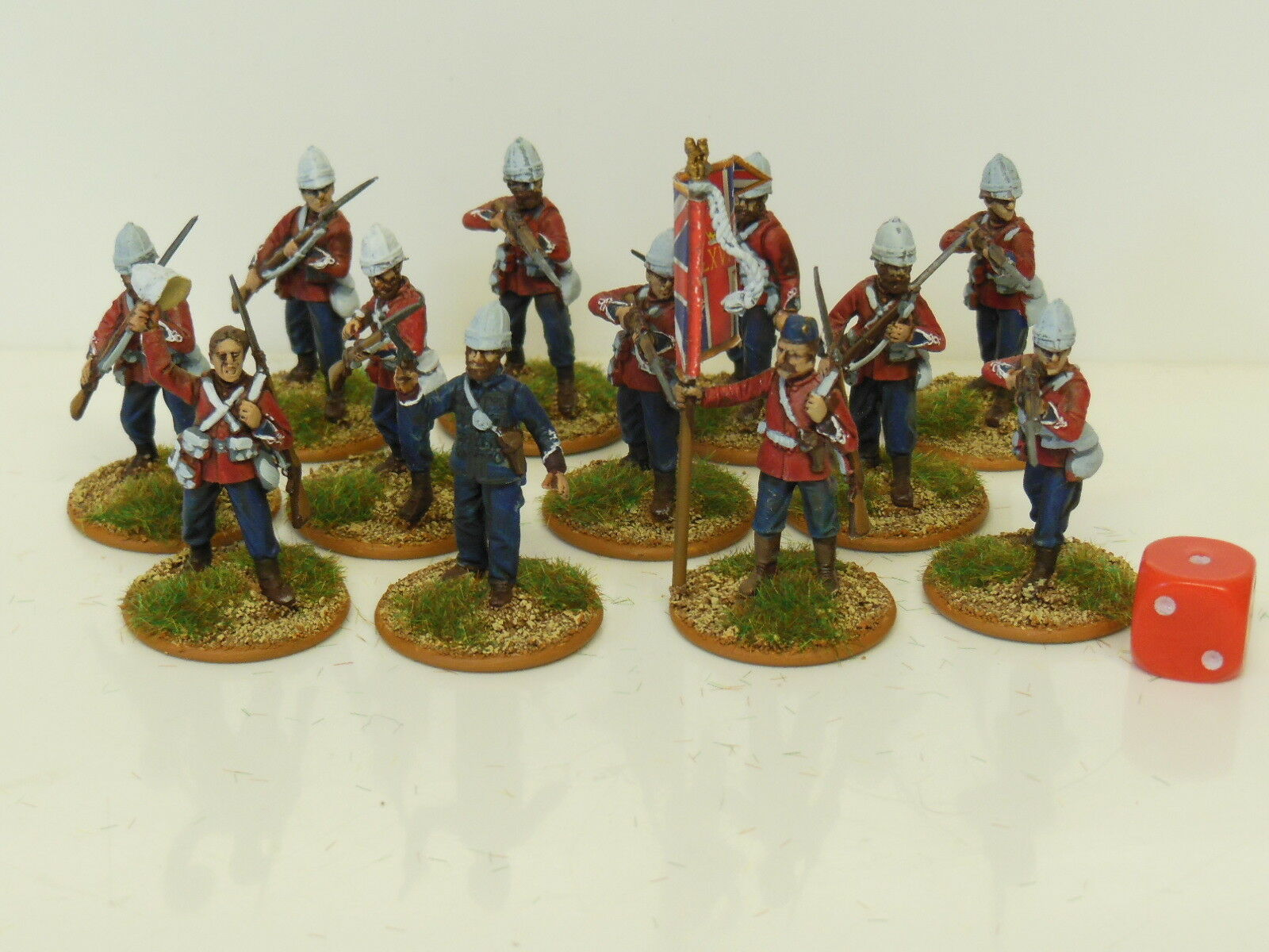 28mm  Zulu Wars British Infantry   Darkest Africa - Painted & Based (R2)