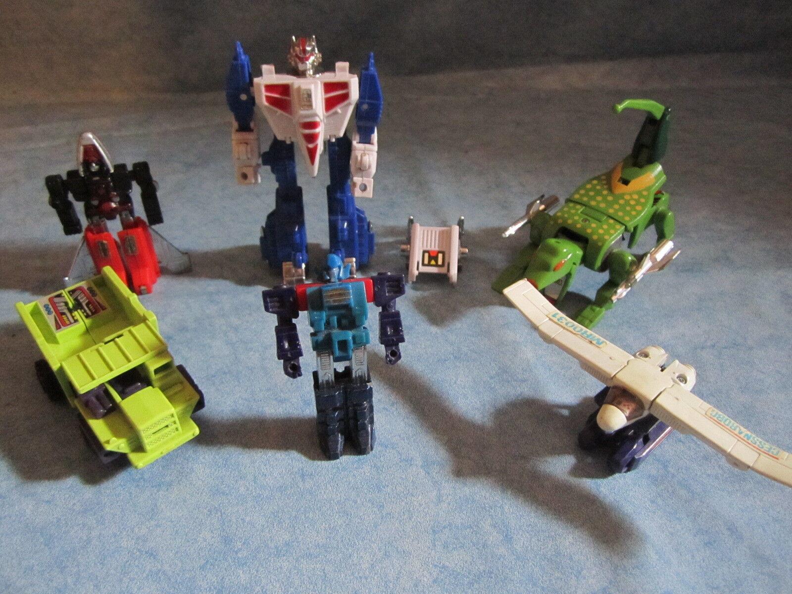 LOTTO 6 TRANSFORMERS Robot Bandai anni '80