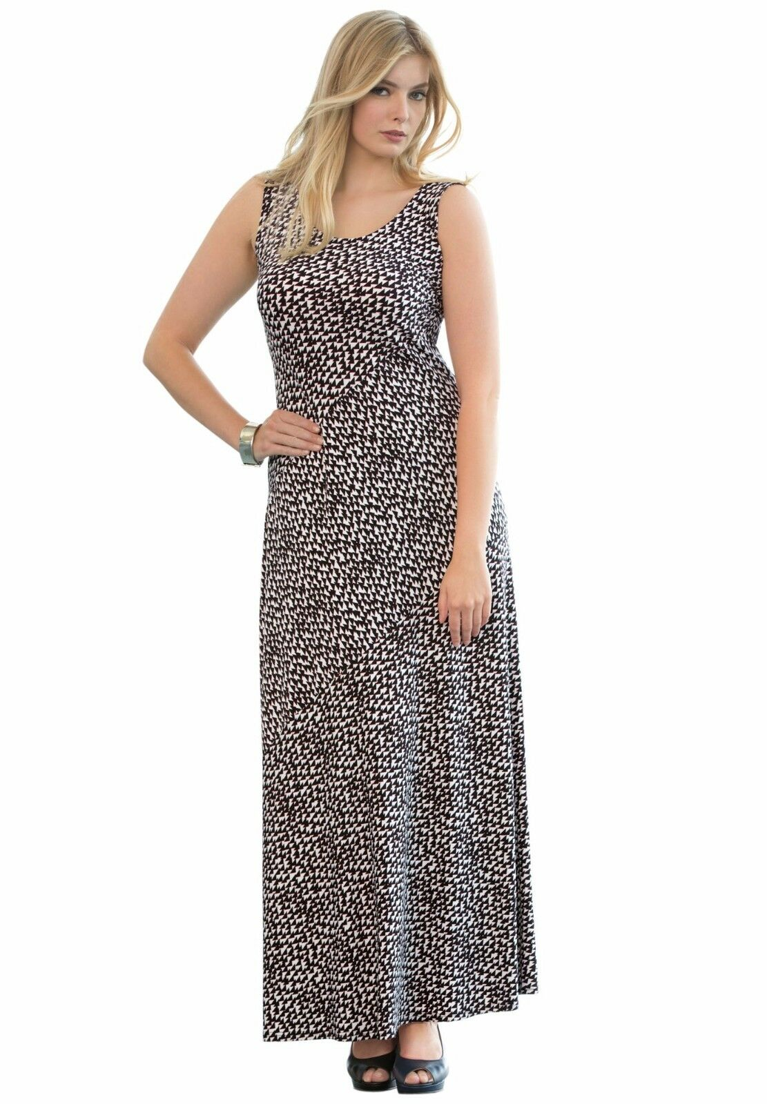 fa833446bf4 Jessica London Length Geo Print Maxi Tank Size 12 Dress Full ...